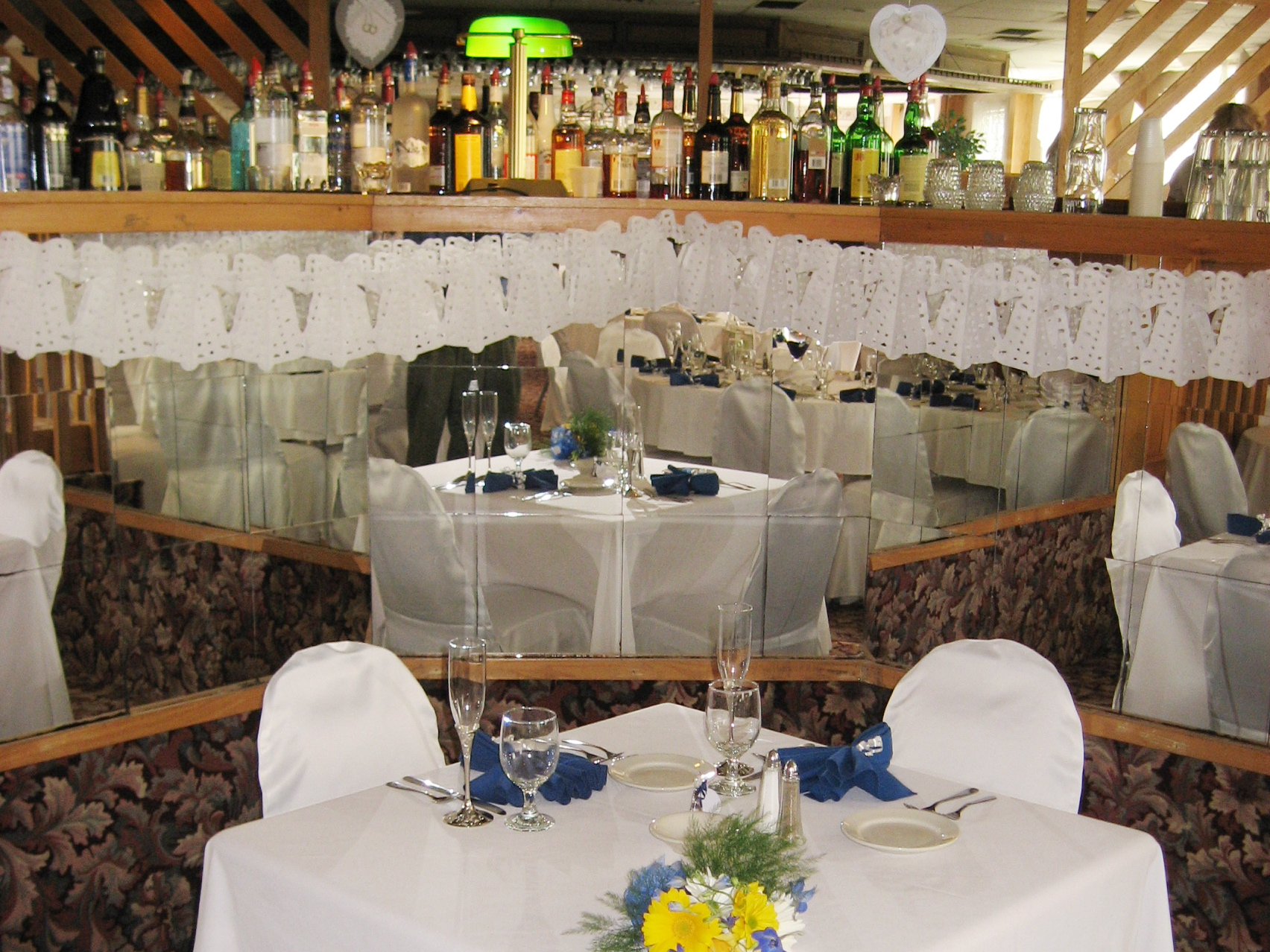 An Elegant Banquet Set-up at the Fireside Inn Auburn